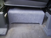 "04-2015 Nissan Titan Under Frontseat Enclosure W\Kenwood 8"" Sub"